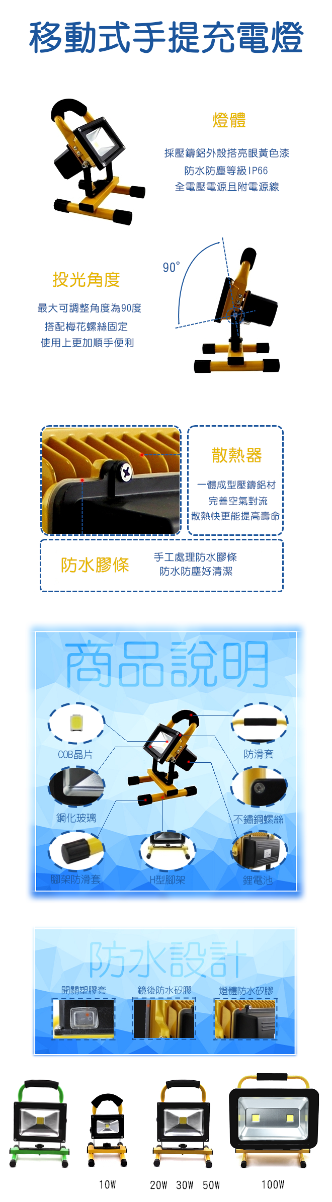 移動式手提充電燈介紹