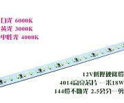 LED12V 18W 144燈硬條燈4014中性光4000K  2.5cm一剪
