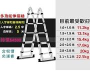 伸縮鋁梯兩用型 2.5 +2.5米